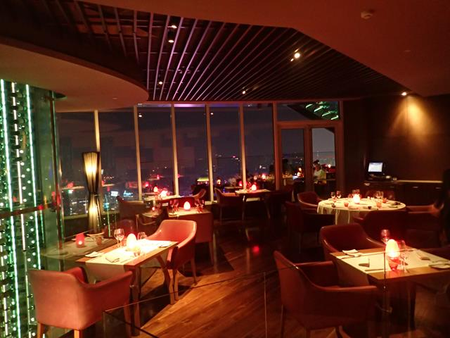 Fine dining at Red Sky Rooftop Bar Bangkok