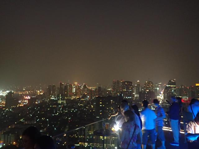 View from Octave Rooftop Bar Bangkok