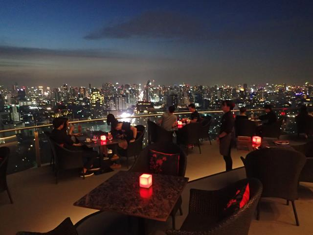 The view from Cielo Sky Bar Bangkok