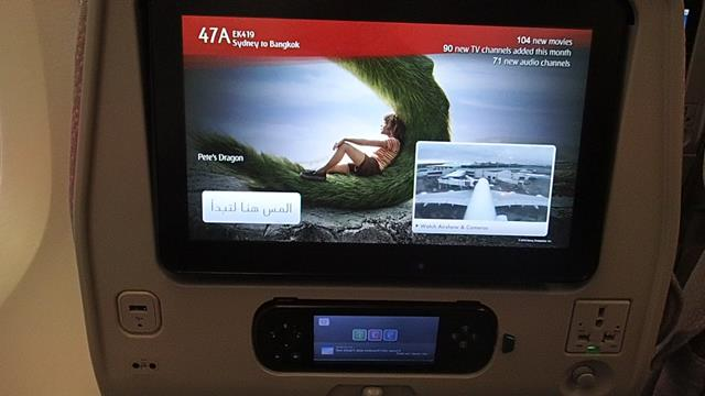 ICE Entertainment on Emirates Economy A380