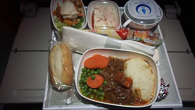 Meal on Emirates Economy class