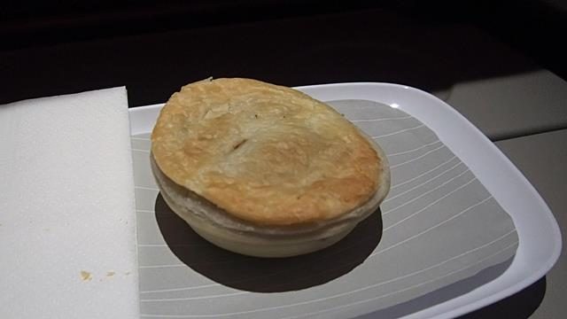 Meat Pie Snack on Emirates Economy