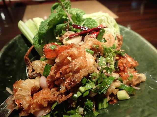 Crispy soft shell crab at Nara Thai Cuisine Bangkok