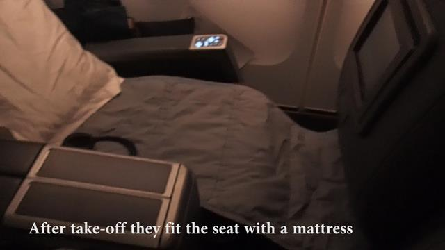 Business Class Seat with mattress
