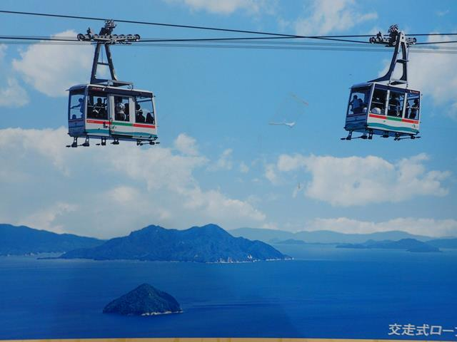 Cable car at Miyajima Island