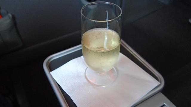 Champagne before take-off Jetstar Business Class