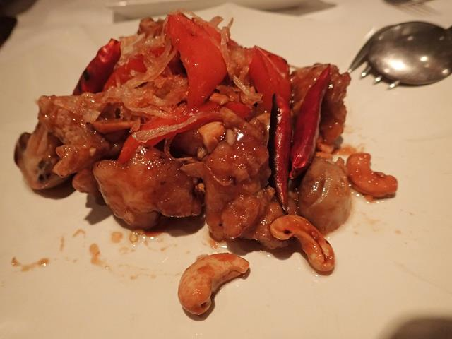 Chicken with cashew nuts at Mango Tree Restaurant