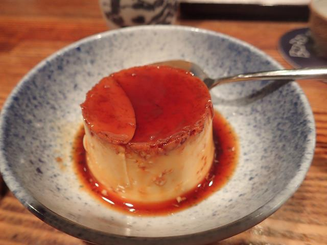 Creme caramel dessert at Bird Land