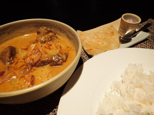 Lamb Masaman Curry at Flare Restaurant