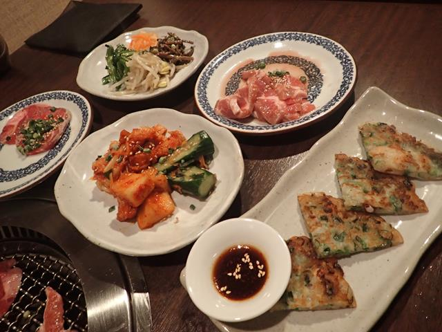Lots of food at Kudara BBQ Restaurant