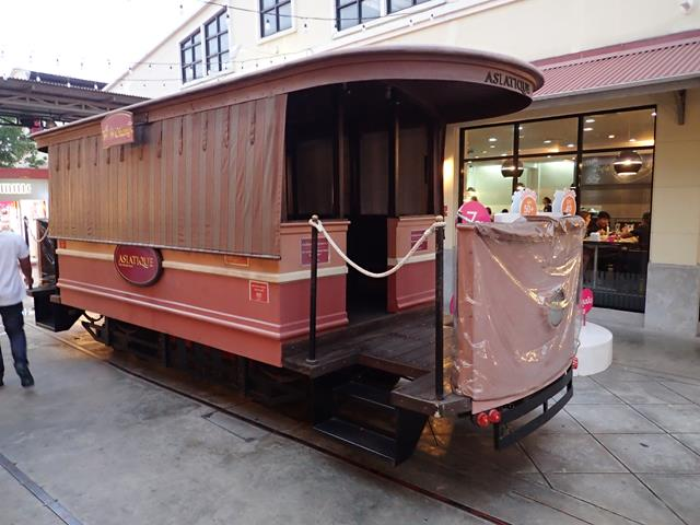 Old tram car at Asiatique