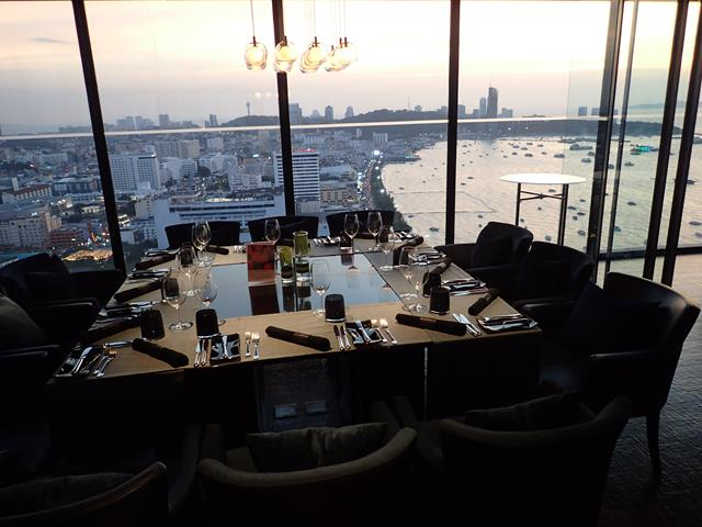 Private dining at Horizon Rooftop Restaurant
