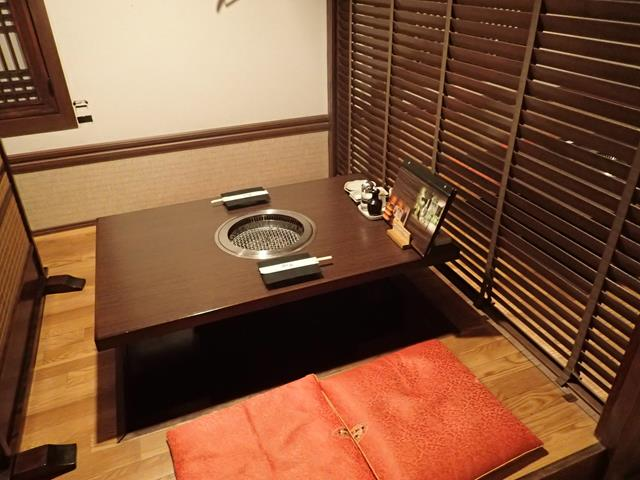 Private dining in Kudara BBQ Restaurant Tokyo