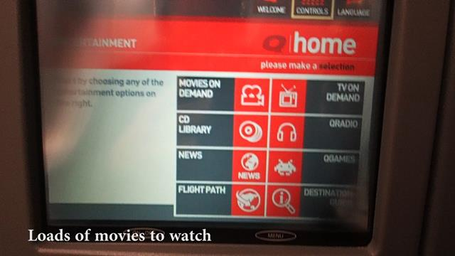 Qantas Entertainment Screens