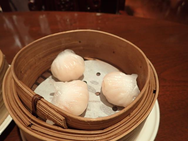 Steamed prawn dumplings at Liu Chinese Restaurant