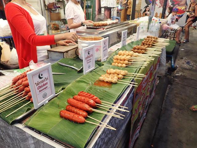 Street food at Rod Fai Night Market
