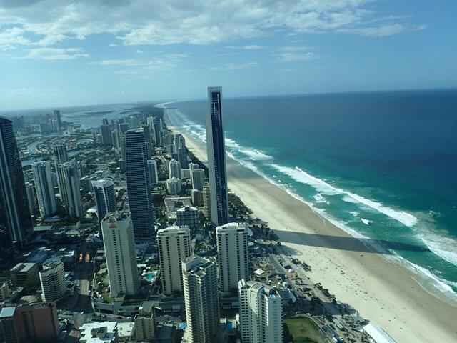 View from Skypoint Observation Deck Surfers Paradise