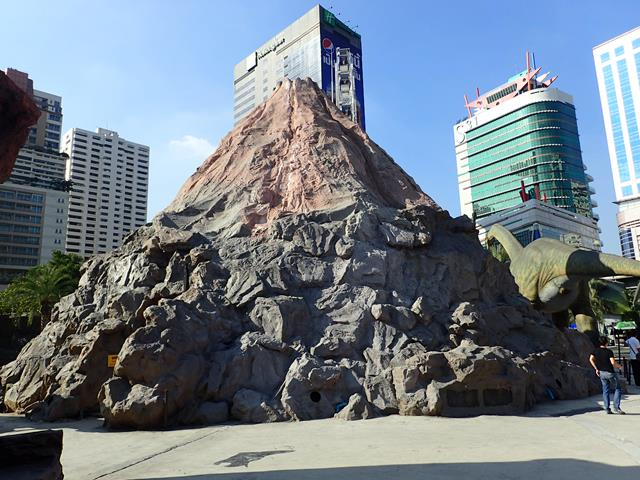 Volcano at Dinosaur Planet Bangkok