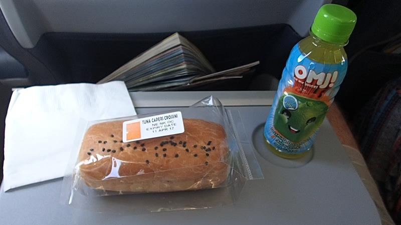 Food on Cebu Pacific domestic flight