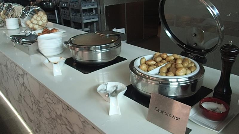 Food at Qantas Business Lounge Sydney