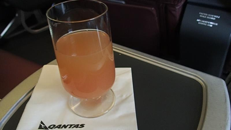 Fruit juice before take-off