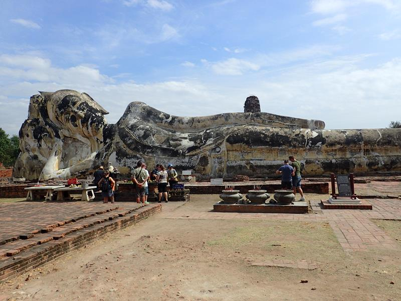 The Reclining Buddha Ayuttaya