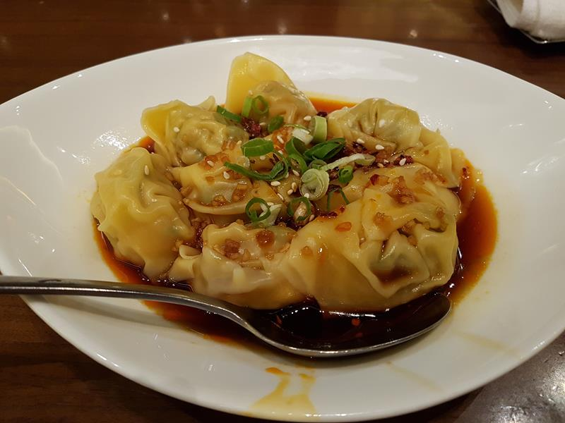 Won tons at Man Tong Kitchen Melbourne