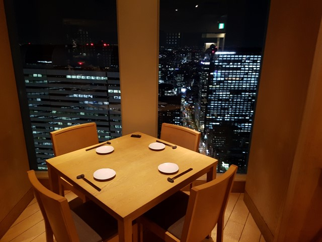 Restaurant with a view over Shinjuku Tokyo