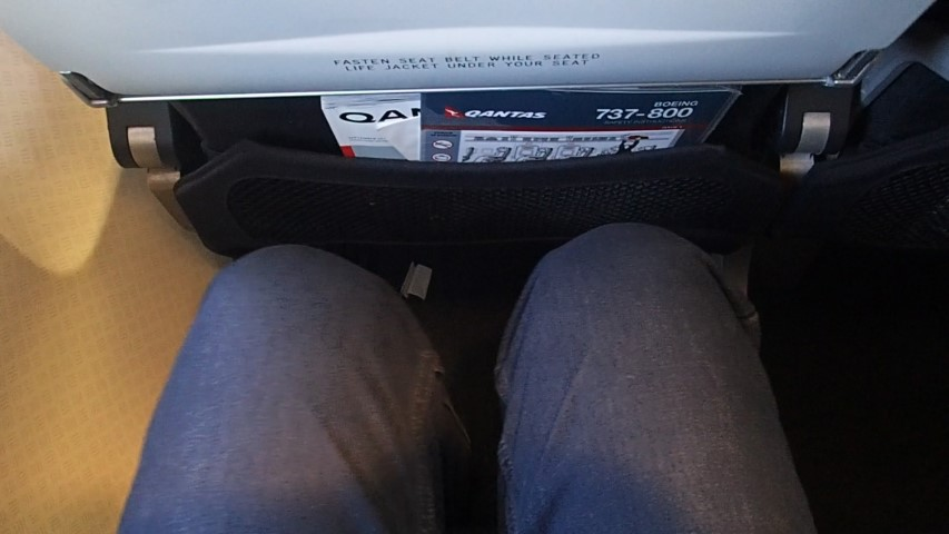 Legroom on Qantas Economy