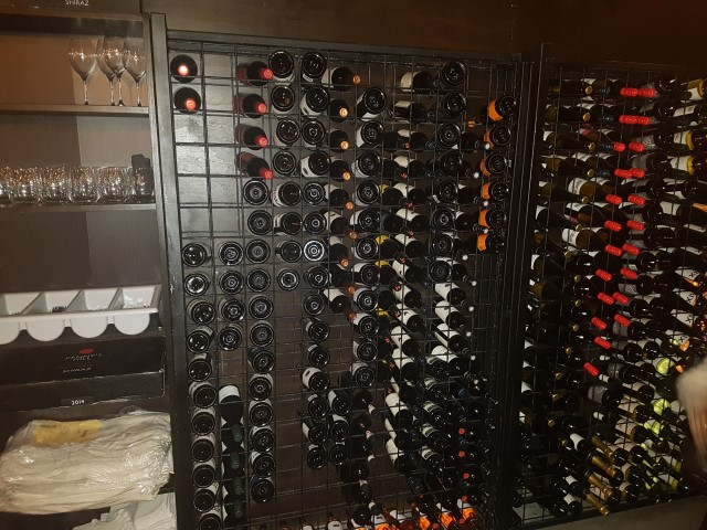 Wine rack at Glenelg Public House