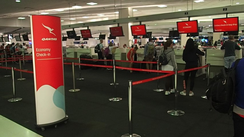 Qantas Check-in counters
