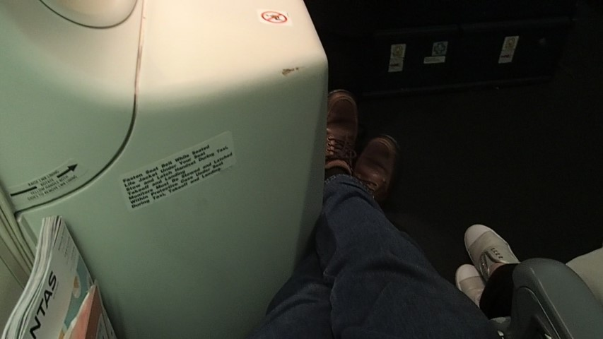 Stretch Your legs out seat 46A