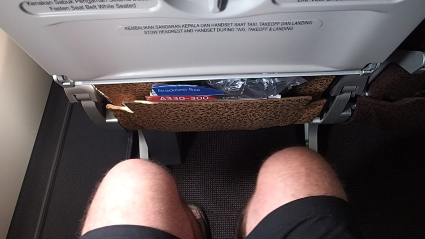 Nice leg room on Garuda A330-300