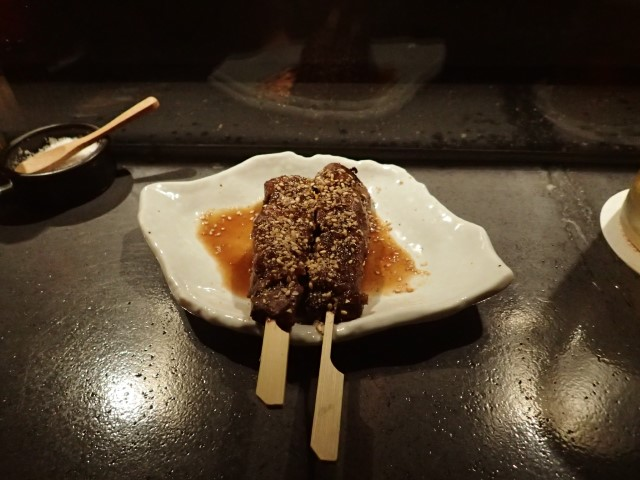 Beef Skewers at Iku Yakitori Bar