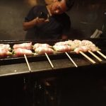 Chicken Skewers at Iku Yakitori Restaurant