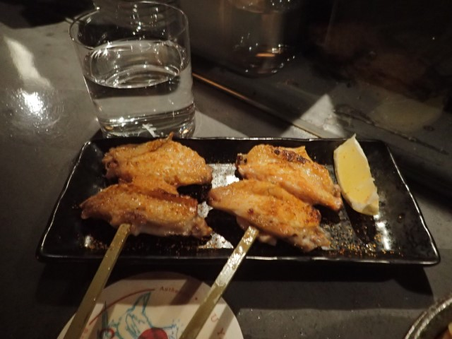 Chicken Wings at Iku Yakitori Restaurant