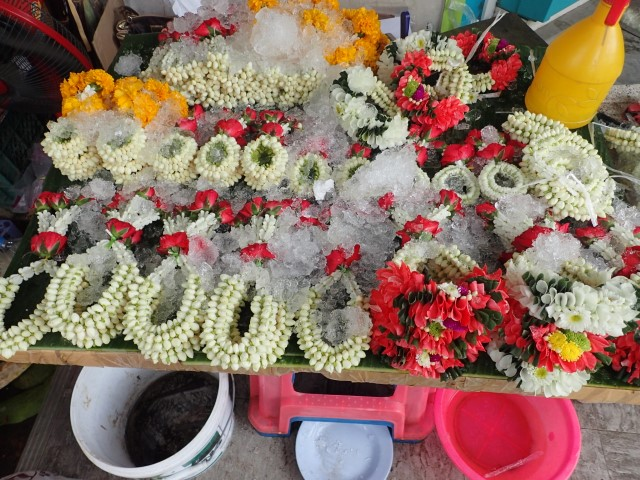 Ceremonial Flowers at Bangkok Flower Markets