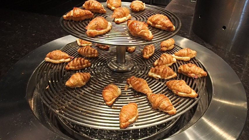 Croissants at Buffet Breakfast at Adelaide Hilton Hotel