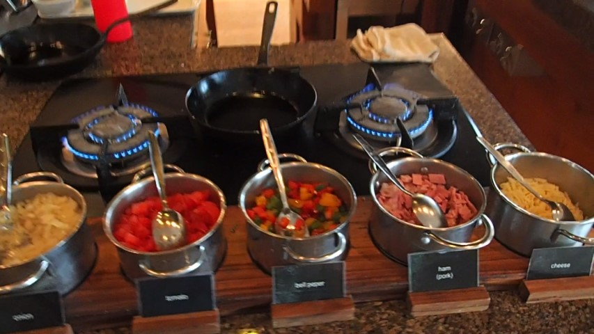 Egg station at Buffet Breakfast at Grand Hyatt Bali