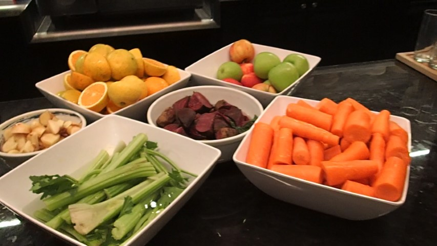 Fruit and Veg for juicing at Hilton Adelaide Hotel