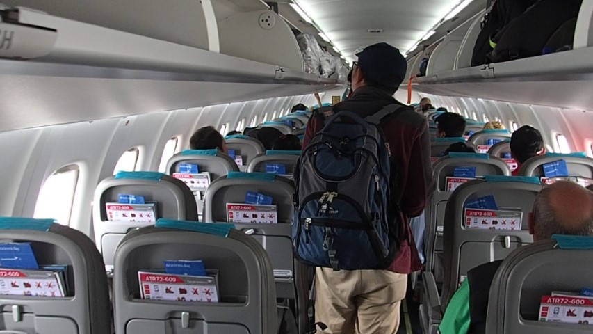 Inside the Garuda ATR72-600 plane