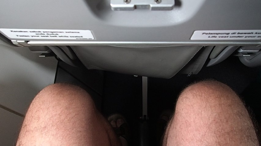 Legroom on Garuda ATR72-600 plane