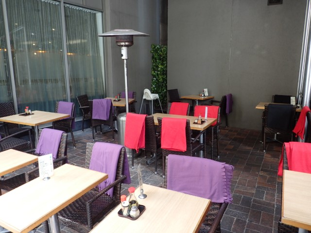 Outdoor dining at Condor Japanese Restaurant