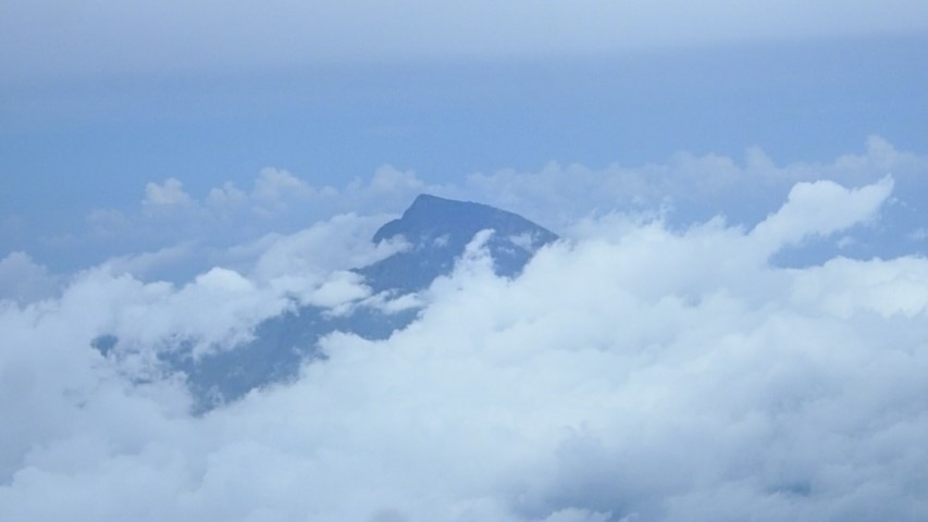 Peak of Mount Rinjani on Lombok