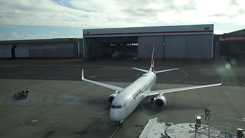 View from Qantas Business Lounge Sydney Airport