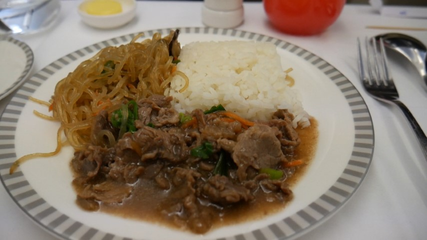 Beef Bulgogi Main Meal on Singapore Airlines