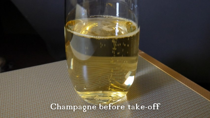 Champagne before take-off