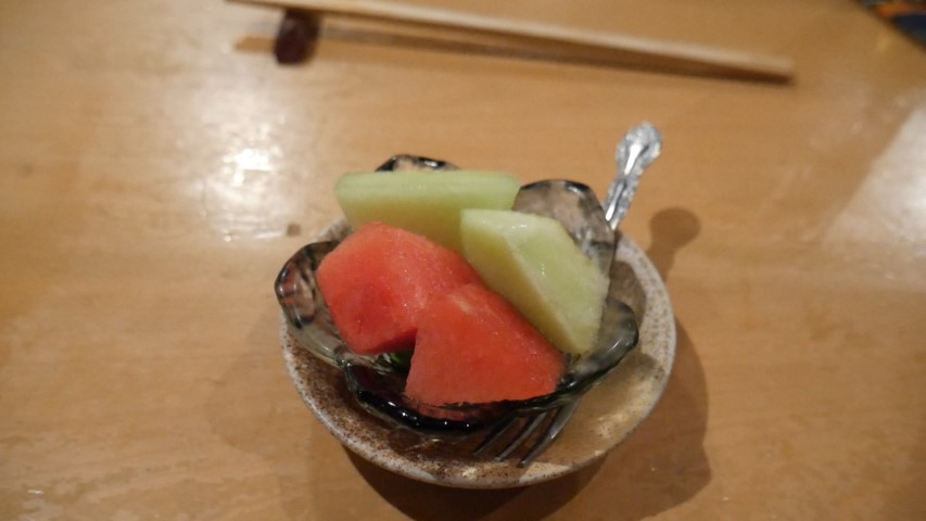 Fruit dessert at Roppongi Robotaya