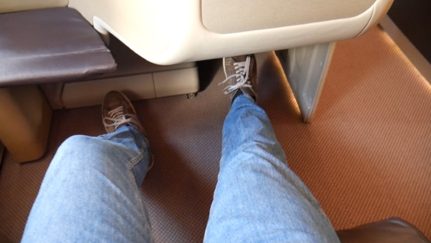 Great Legroom on Singapore Airlines A380