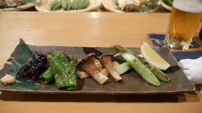 Grilled vegetables at Roppongi Robotaya Restaurant